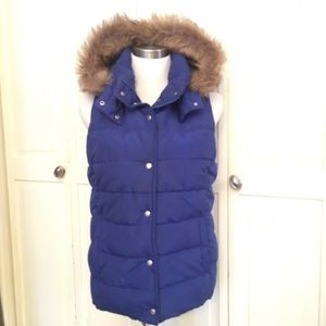 Old Navy Puffer Vest with Detachable Hood
